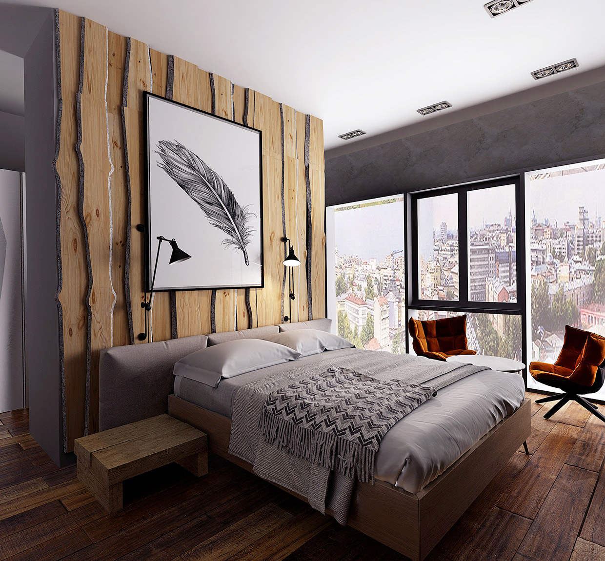 Image of: Rustic Contemporary Bedroom