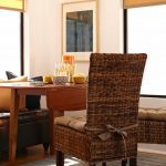 Rustic Dining Chair Cushions with Ties