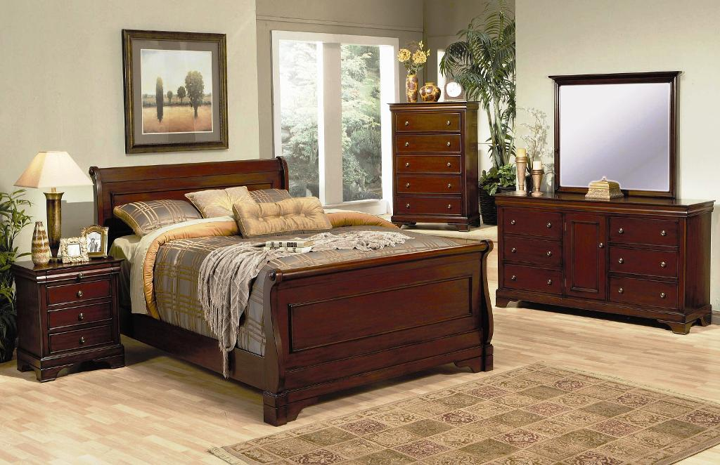 Image of: Rustic King Size Bed Set