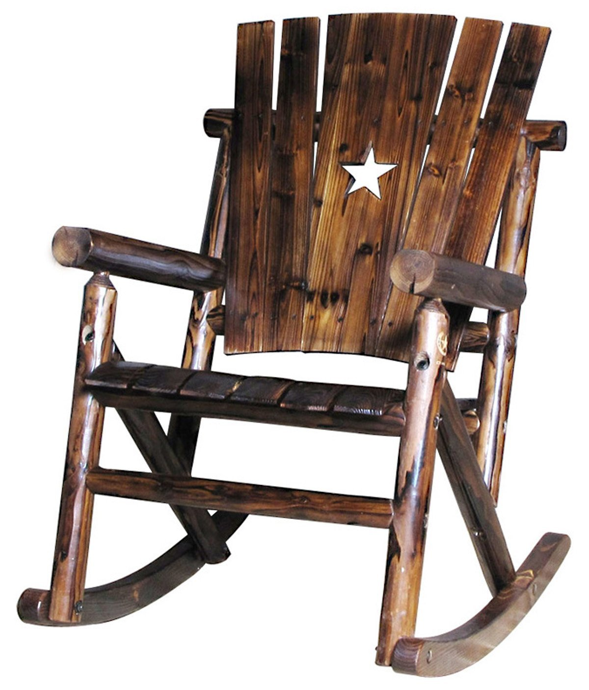 Image of: Rustic Patio Rocking Chair