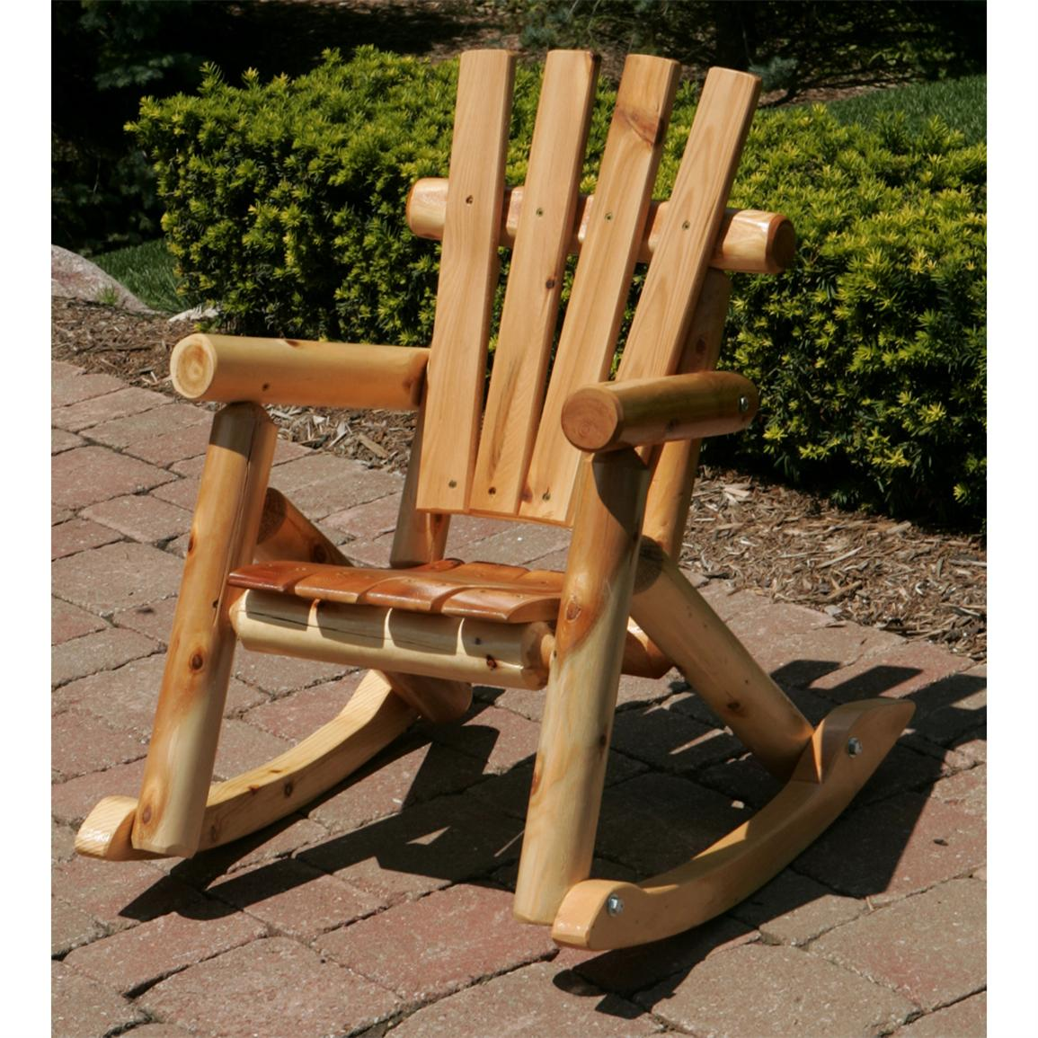 Image of: Rustic Rocking Chairs Picture