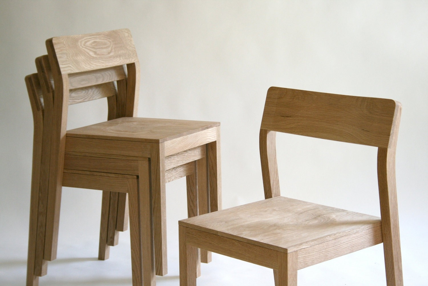Image of: Rustic Stackable Dining Chairs
