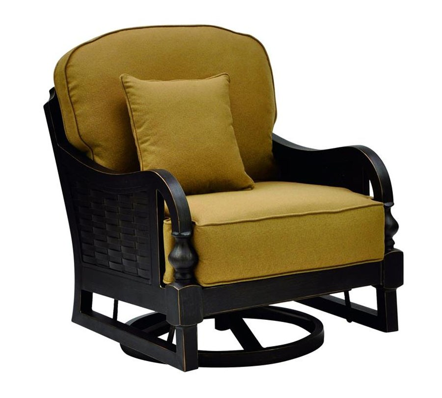 Image of: Rustic Swivel Lounge Chair