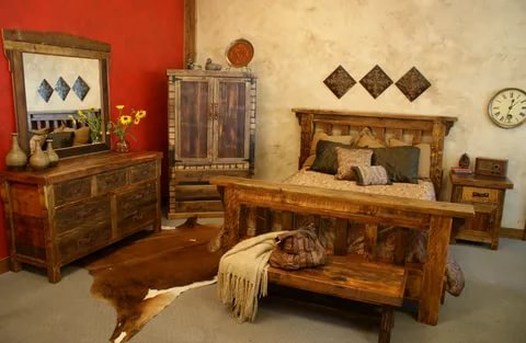 Image of: Rustic White Bedroom Furniture