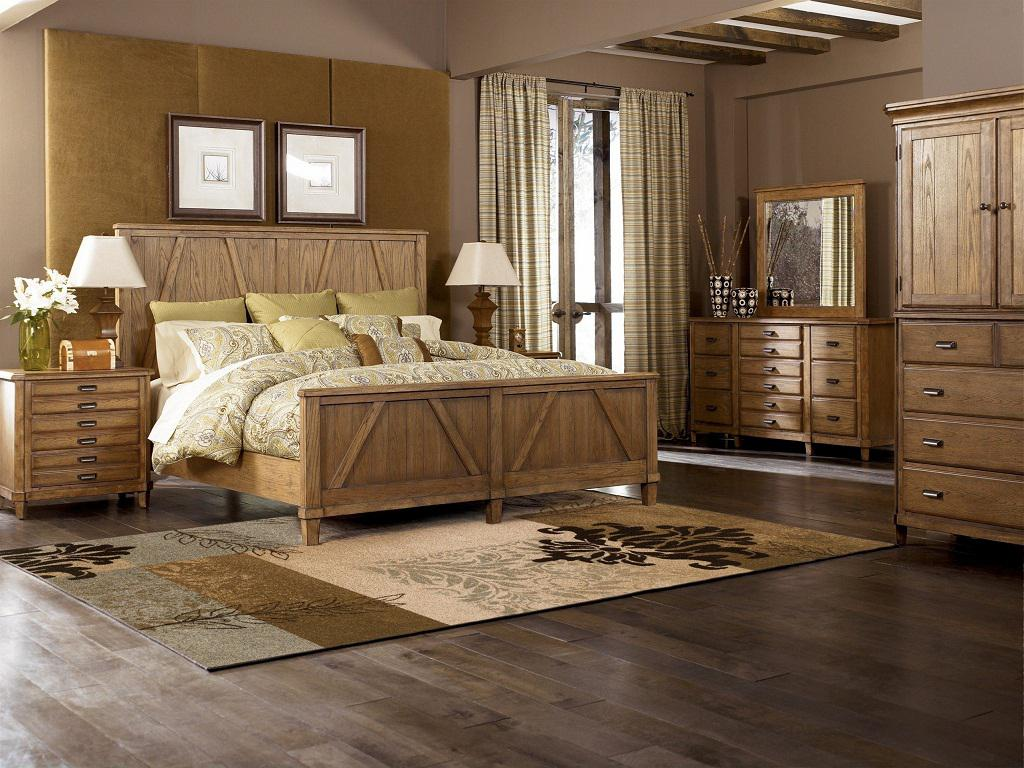 Image of: Rustic Wood Bedroom Sets Photos