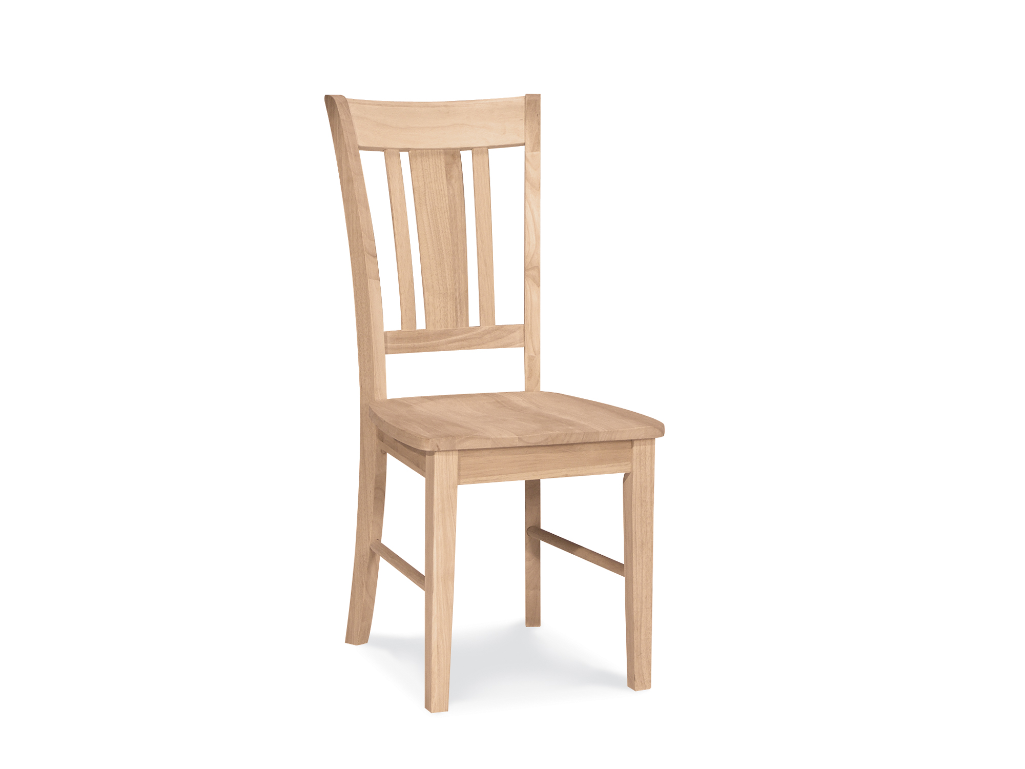 Simple Unfinished Wood Dining Chairs