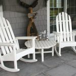 Simple White Wicker Rocking Chair