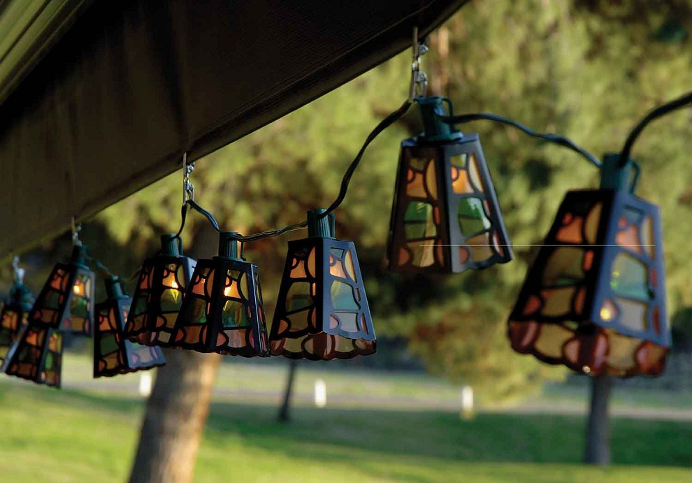 Image of: Solar Patio Lights Color