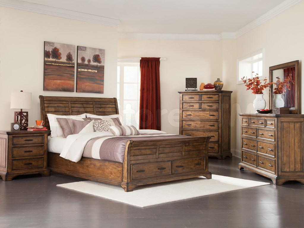 Image of: Solid Rustic Wood Bedroom Furniture