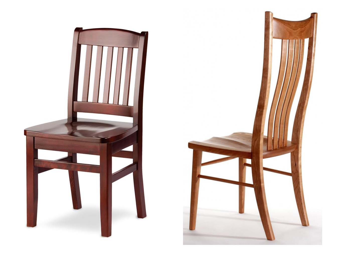 Image of: Solid Unfinished Wood Dining Chairs