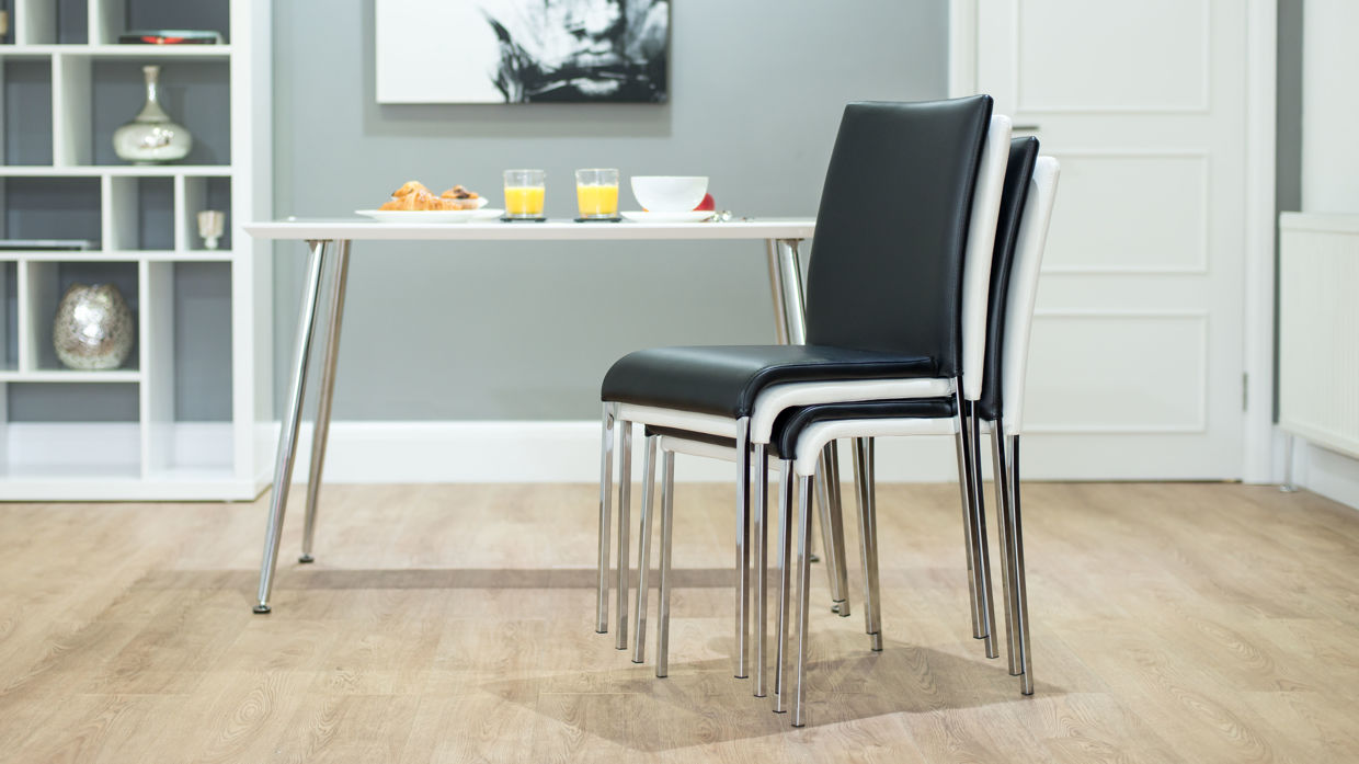 Image of: Stackable Dining Chairs Set