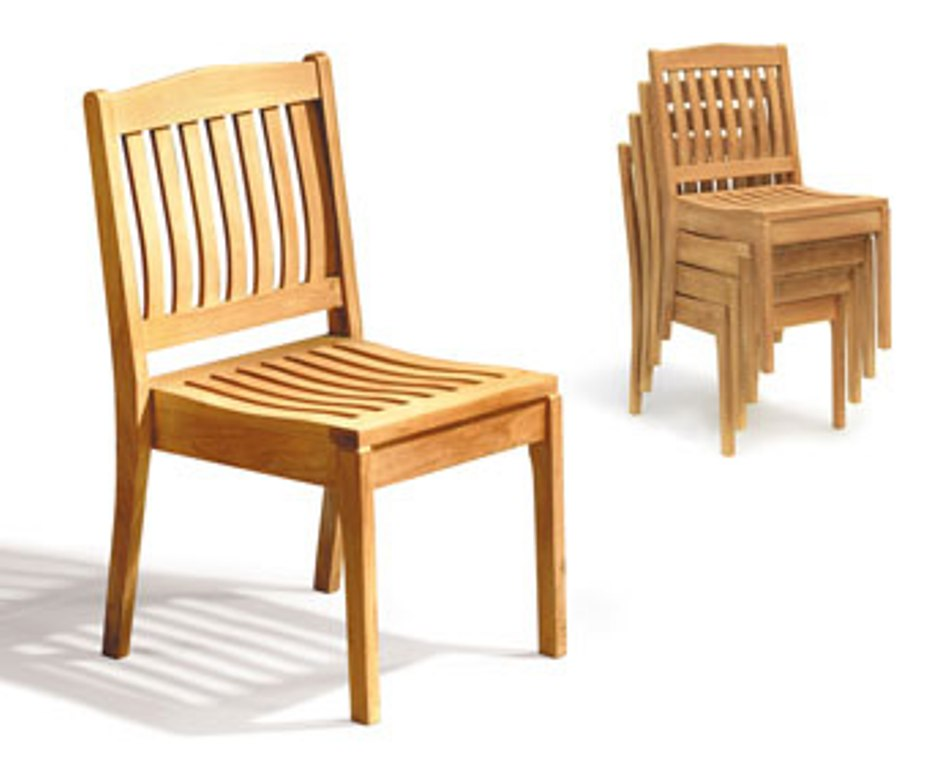Image of: Stackable Patio Chairs Blue