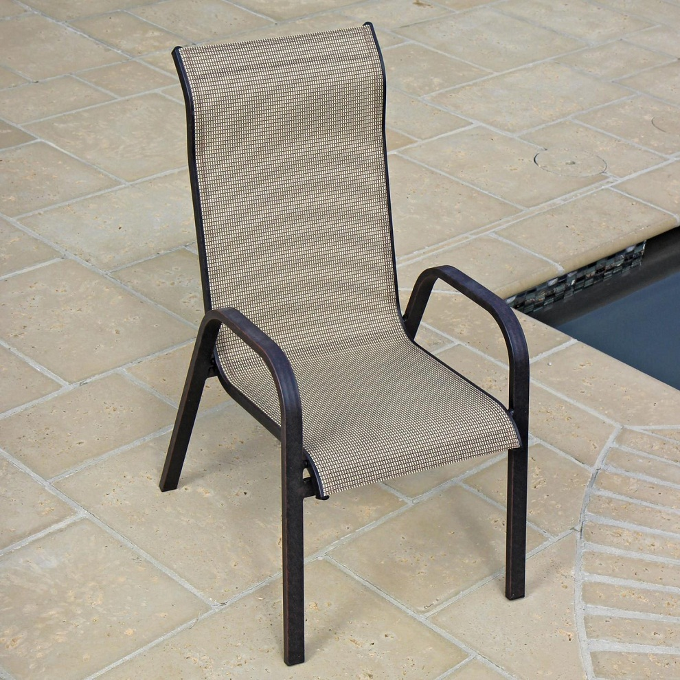 Image of: Stacking Patio Chairs High Back
