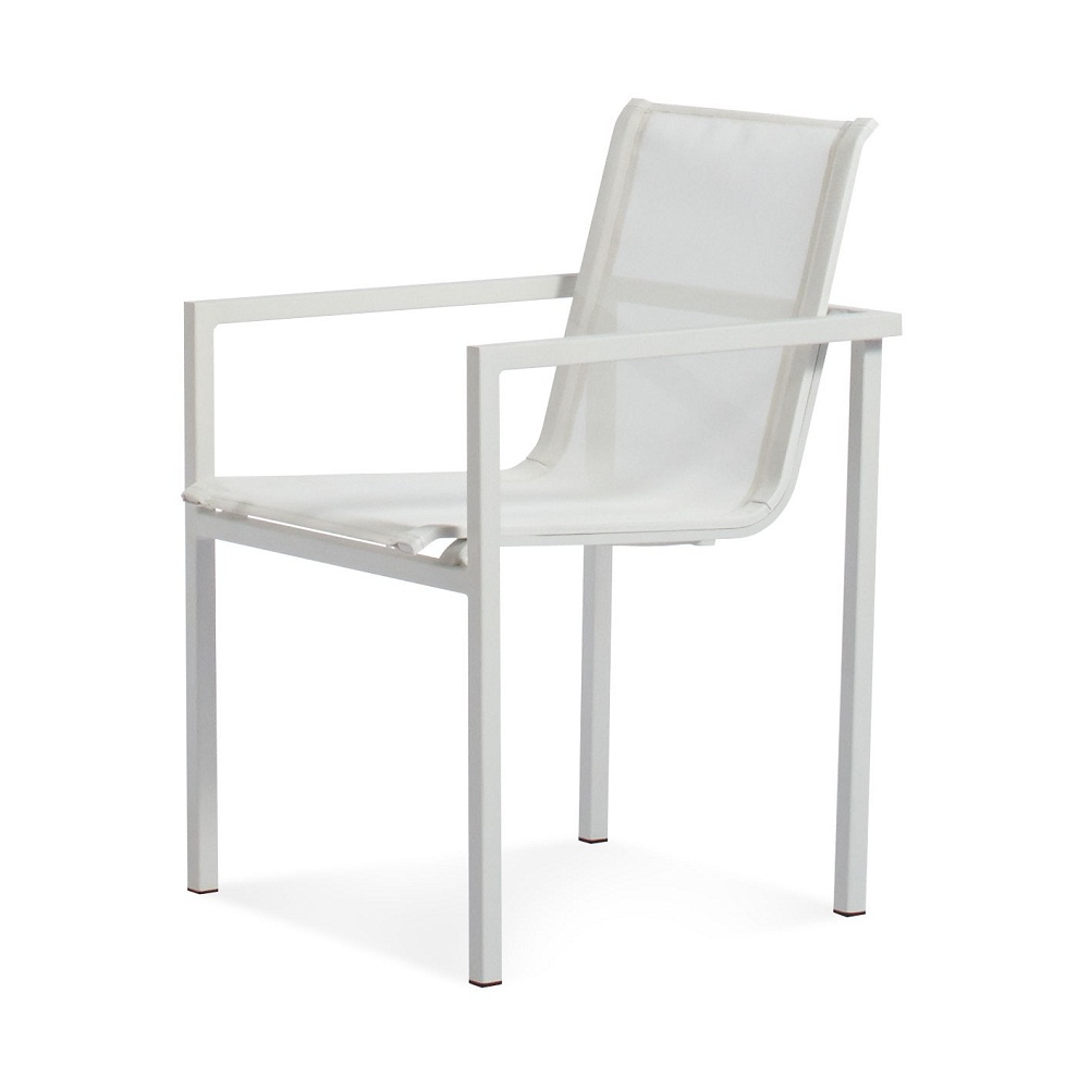Image of: Stacking Patio Chairs White