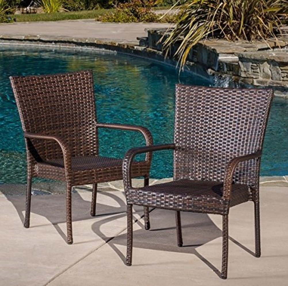 Image of: Stacking Patio Chairs Wicker