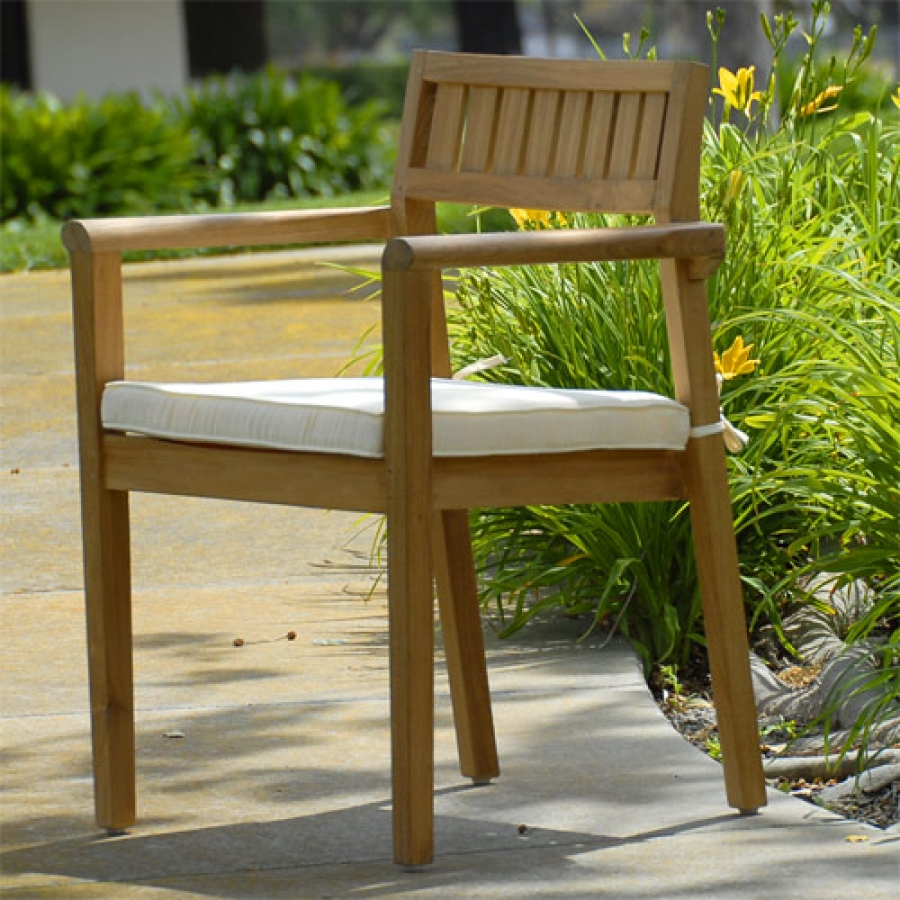 Image of: Stacking Patio Chairs Wood