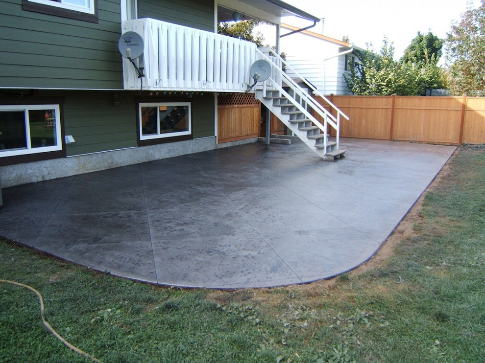 Image of: Stamped Concrete Patio Color