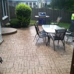 Stamped Concrete Patio Dining