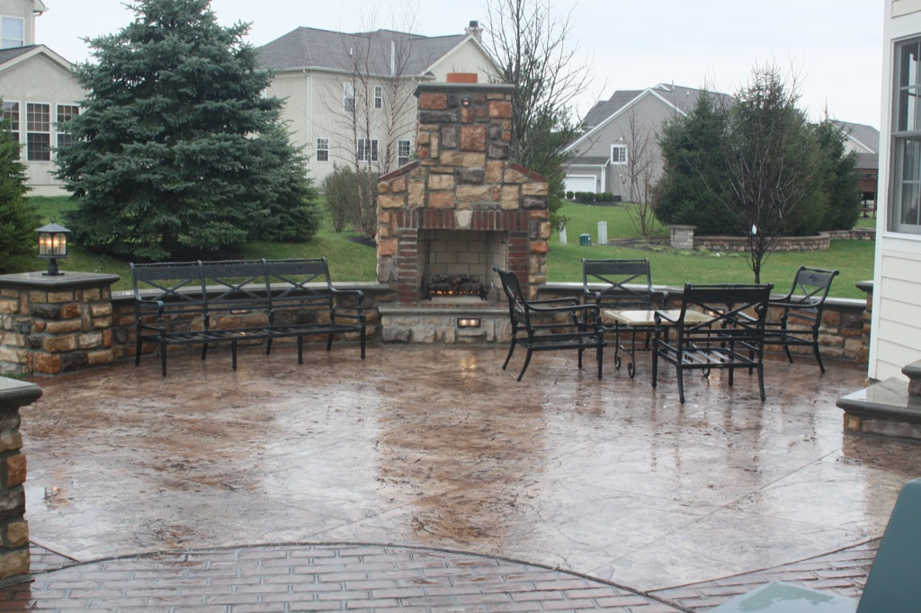 Image of: Stamped Concrete Patio Kitchen