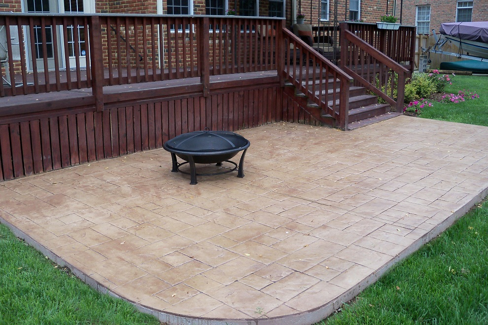 Image of: Style of Stamped Concrete Patio
