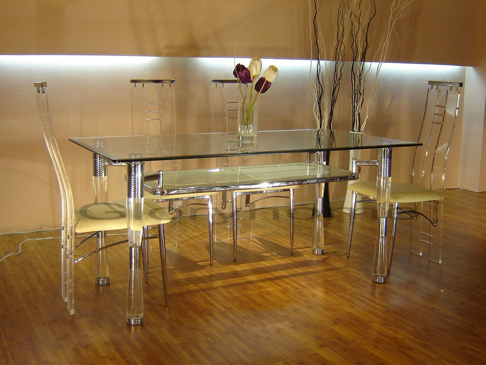 Image of: Stylish Lucite Dining Chairs