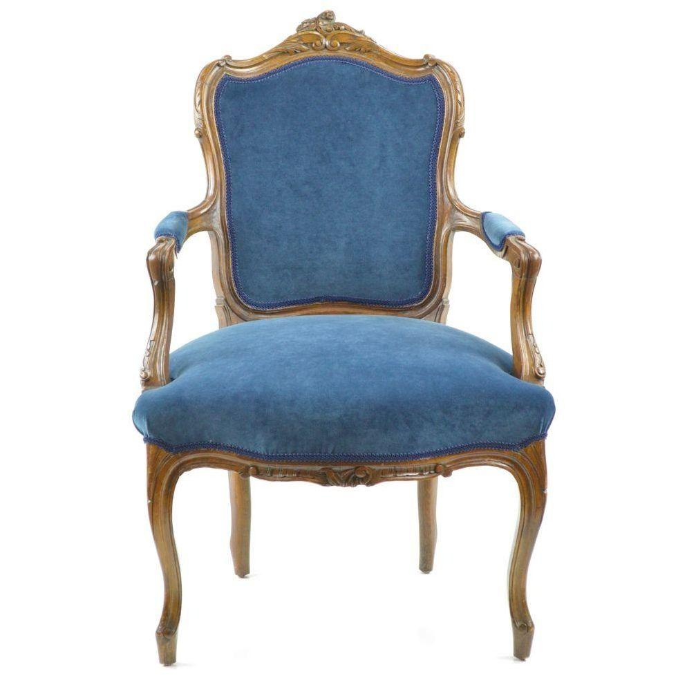 Image of: Stylish Navy Blue Accent Chair