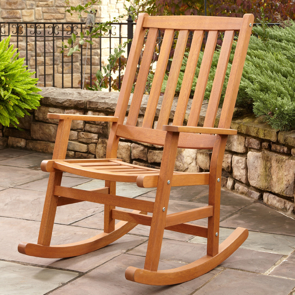 Image of: Stylish Outdoor Wicker Rocking Chairs
