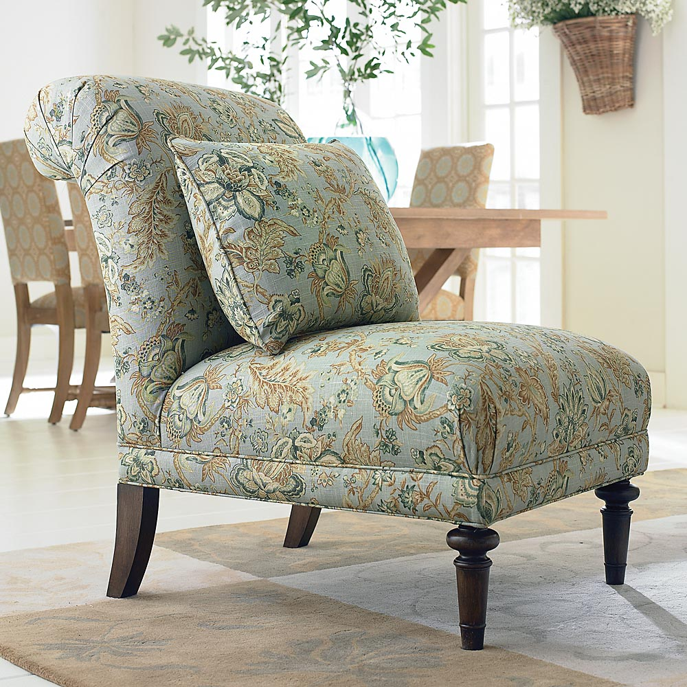 Image of: Theme Armless Accent Chair