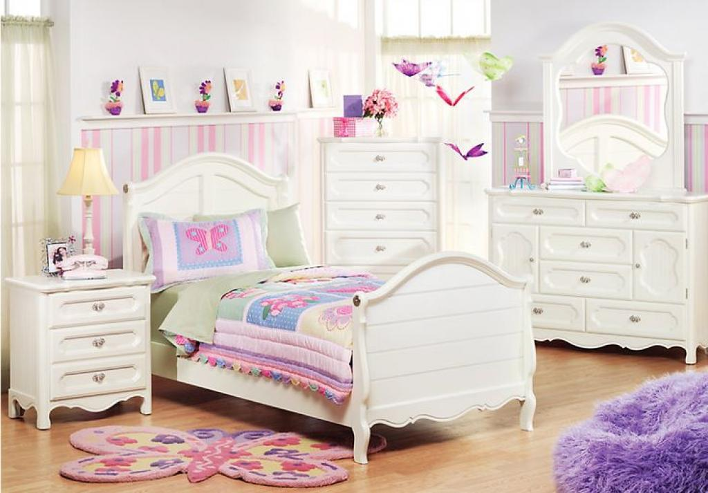 Toddler Girl White Bedroom Set