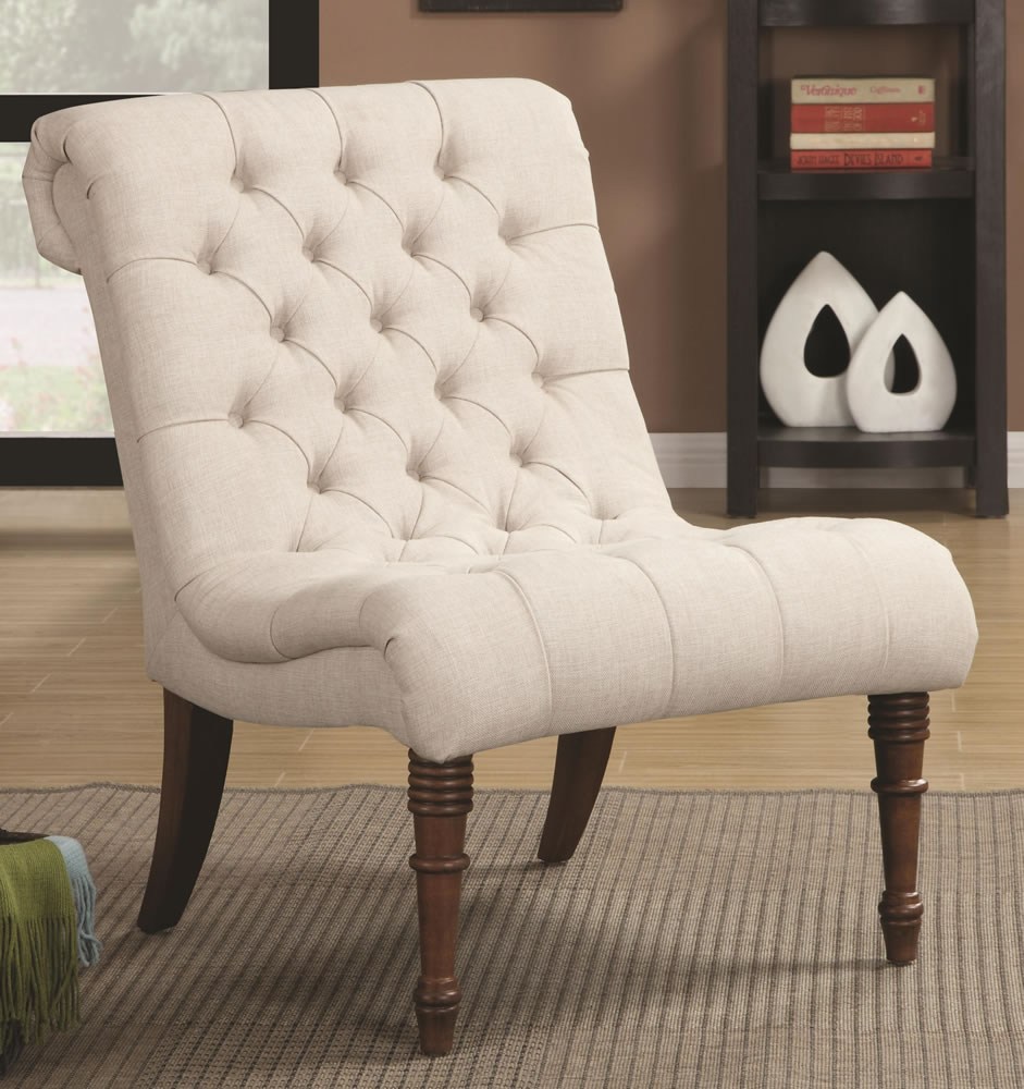 Image of: Traditional Armless Accent Chairs