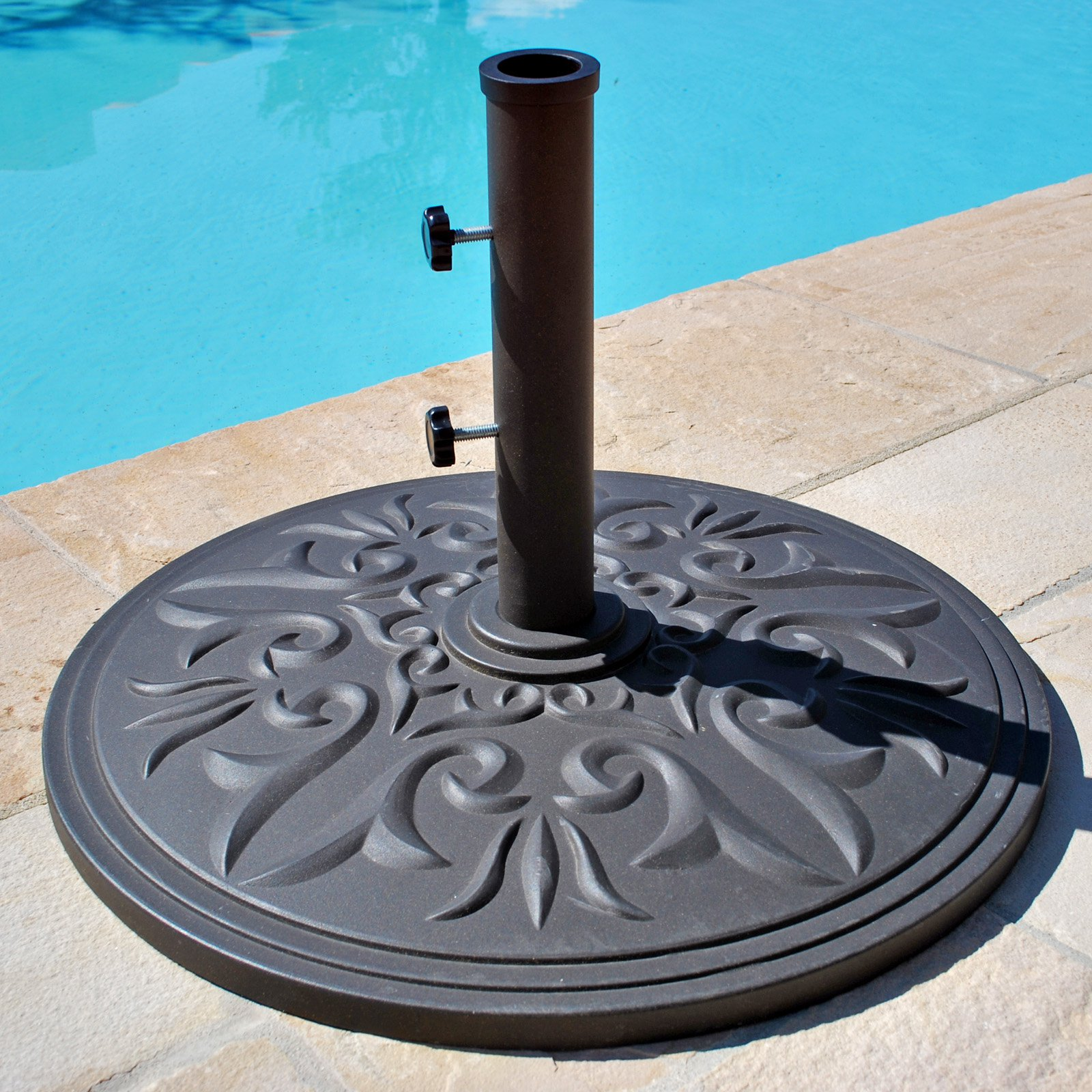 Image of: Unique Patio Umbrella Stand