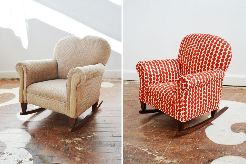 Image of: Upholstered Rocking Chairs Image