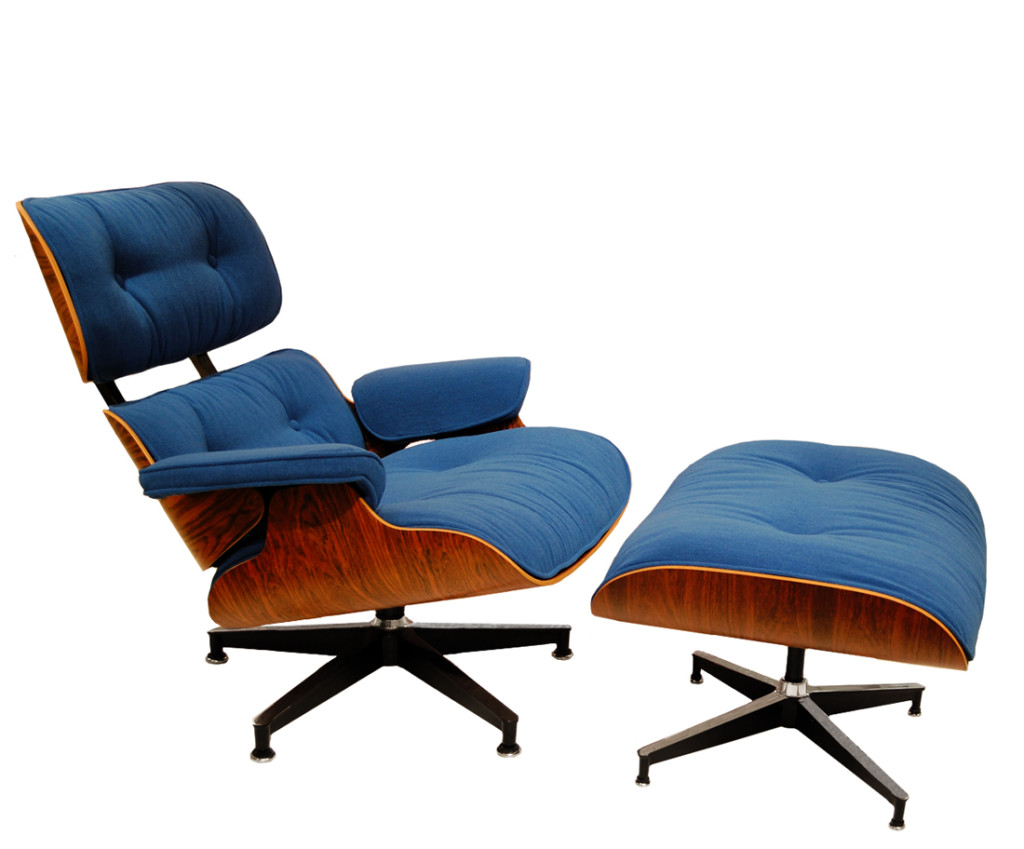 Image of: Vintage Eames Lounge Chair and Ottoman