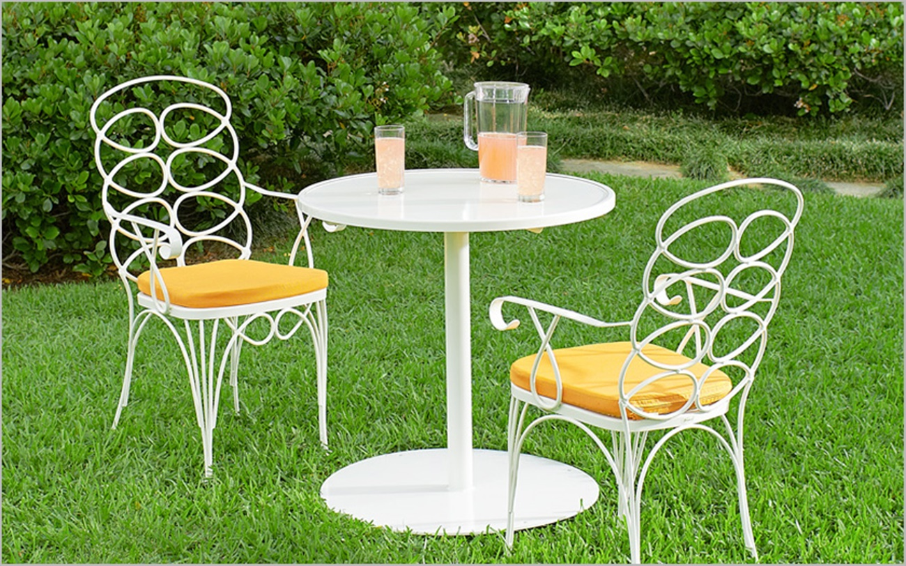 Image of: Vintage Wrought Iron Patio Furniture