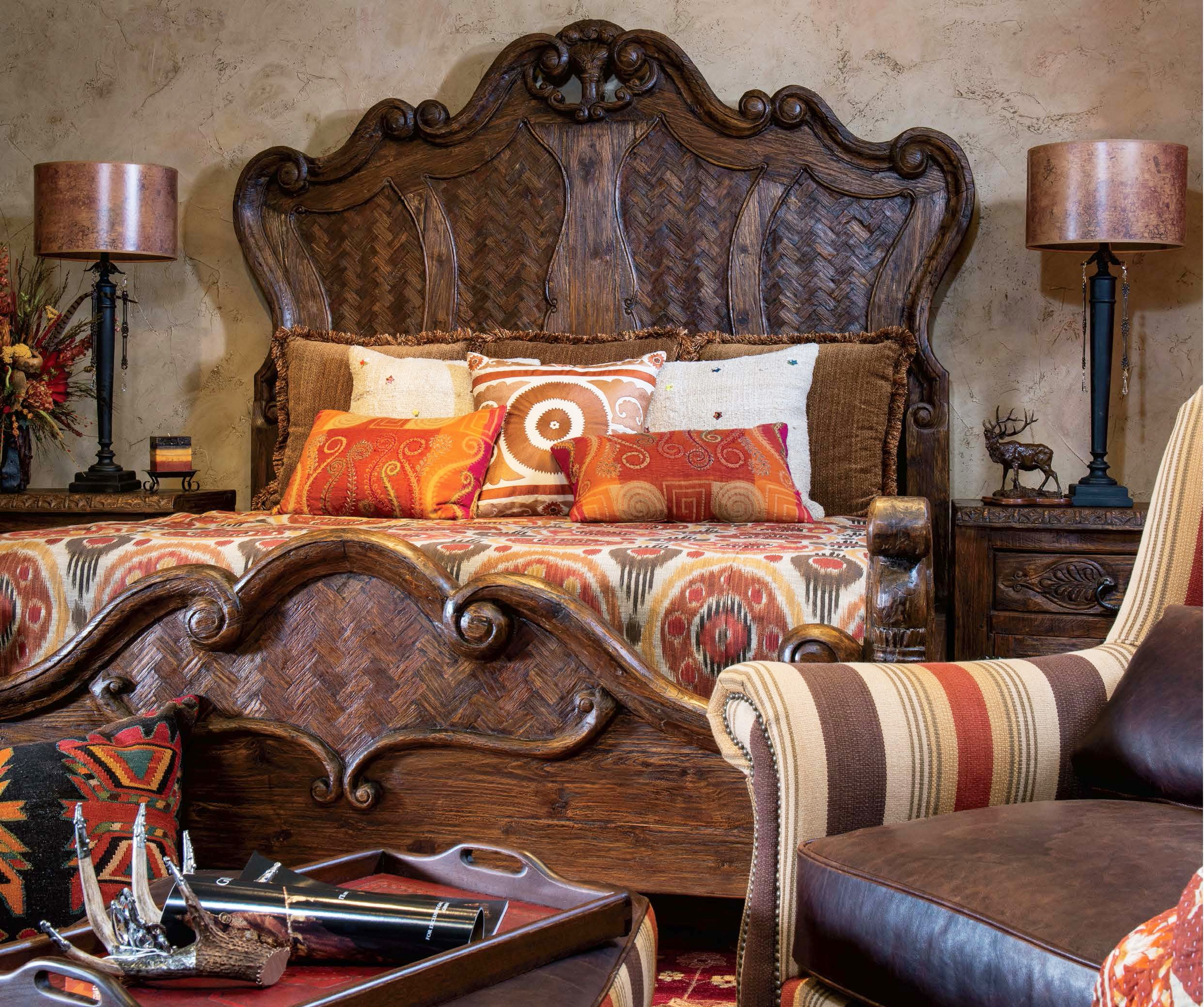 Image of: Western Rustic Bedroom Sets