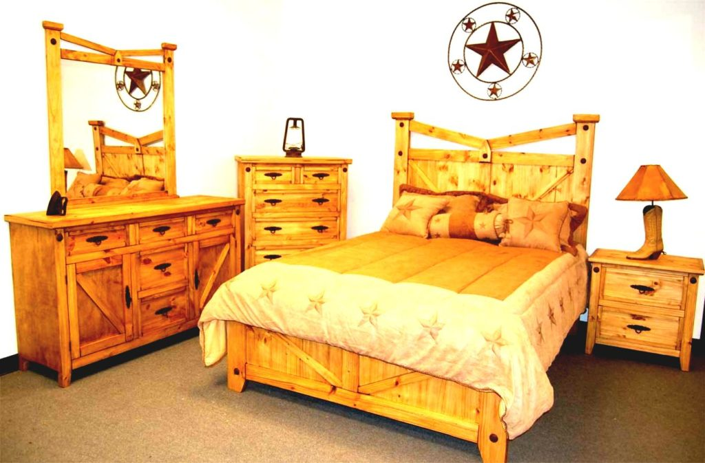 Image of: Western rustic bedroom furniture ideas