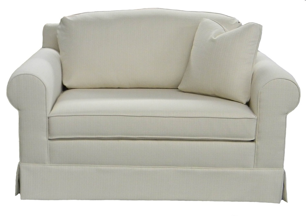Image of: White Chair And A Half Sleeper