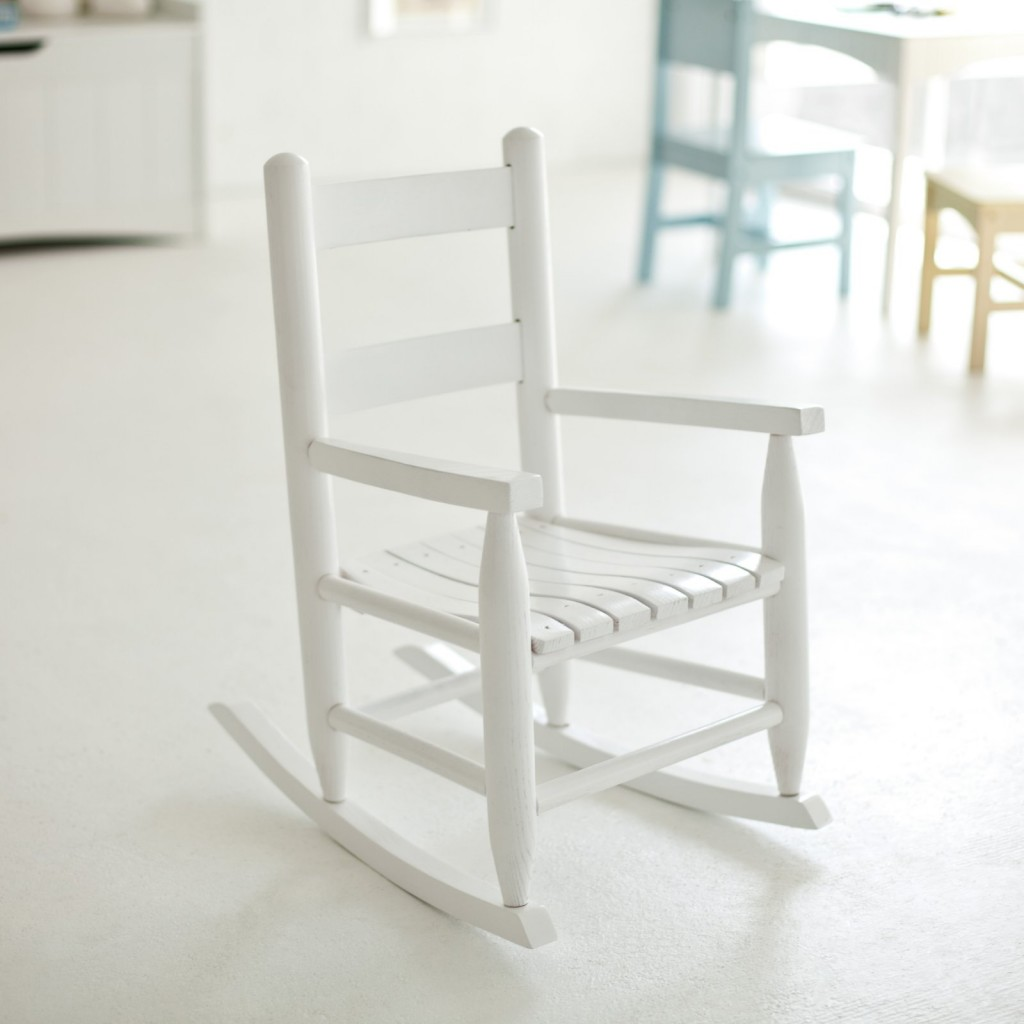 Image of: White Childrens Rocking Chair