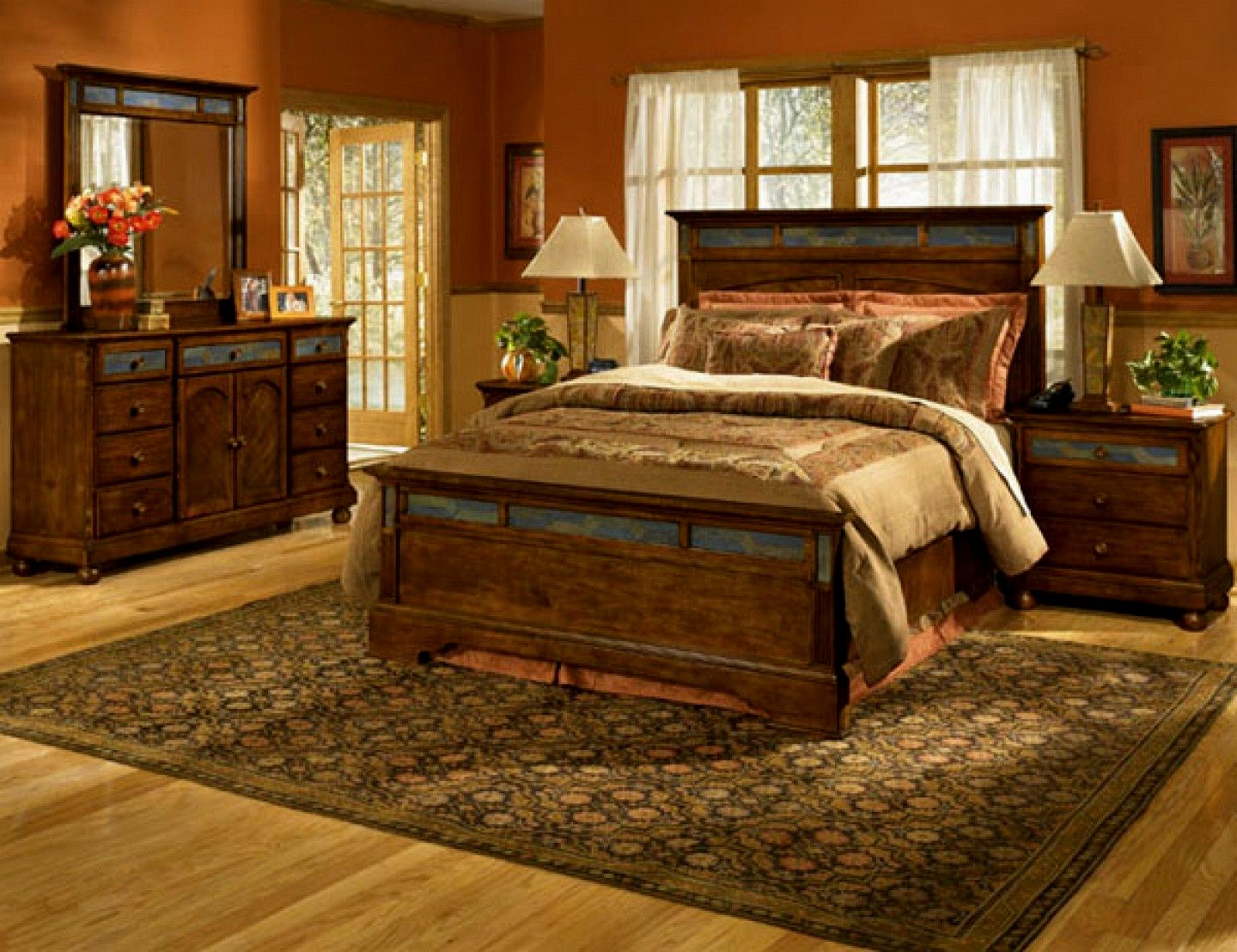 Image of: Rustic Master Bedroom Furnitures