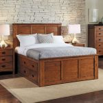 White King Bed With Storage Drawers