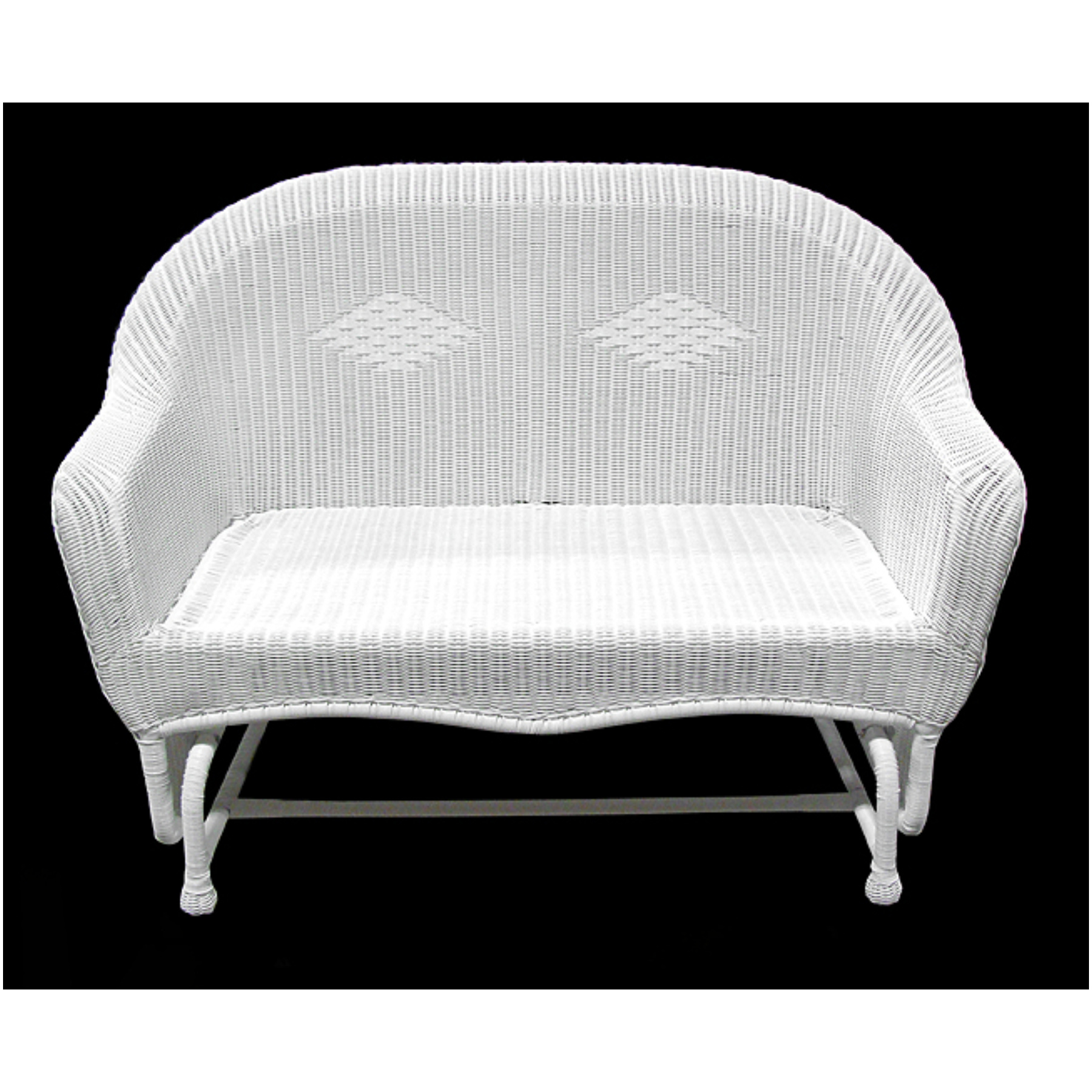 Image of: White Patio Glider Chair