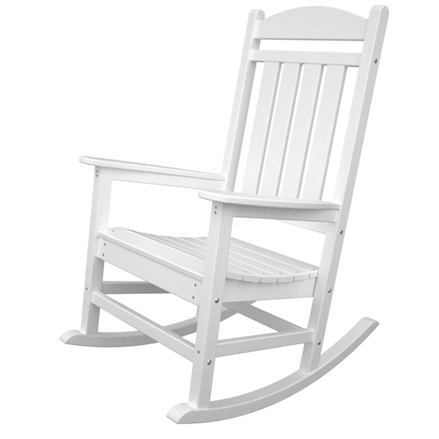 Image of: White Patio Rocking Chair