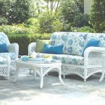 White Wicker Patio Furniture Seating