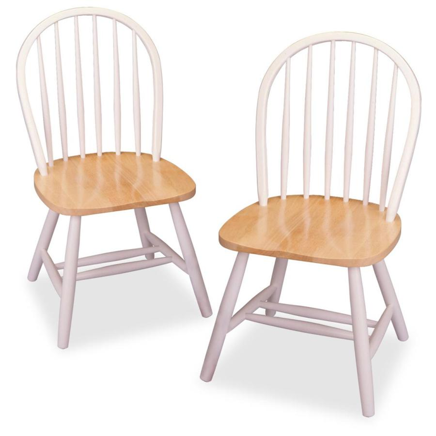 Image of: White Windsor Dining Chairs