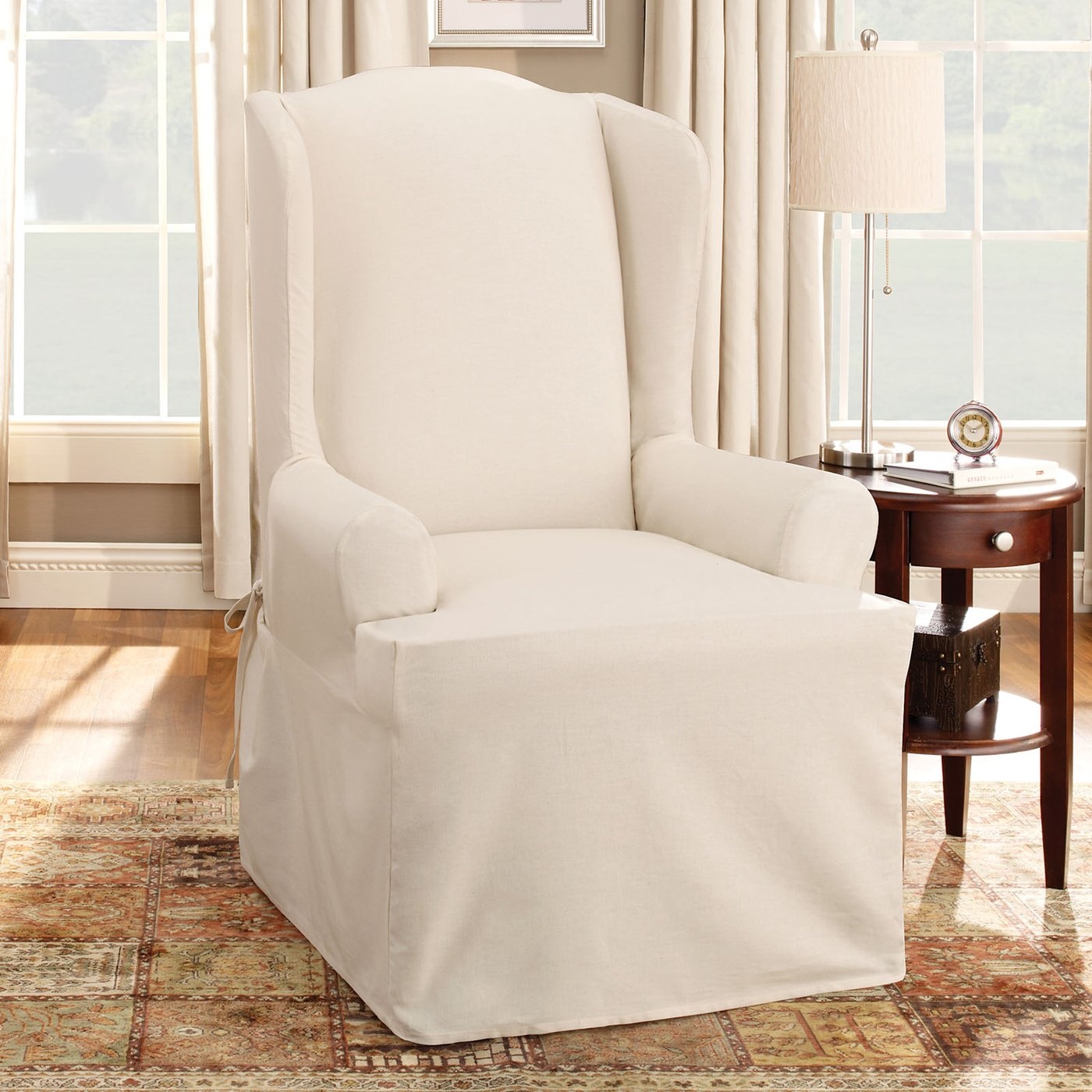 Image of: White Wing Chair Recliner