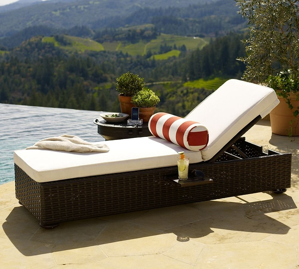 Image of: Wicker Lounge Chair Design