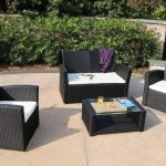 Wicker Patio Furniture with Turquose Cushions