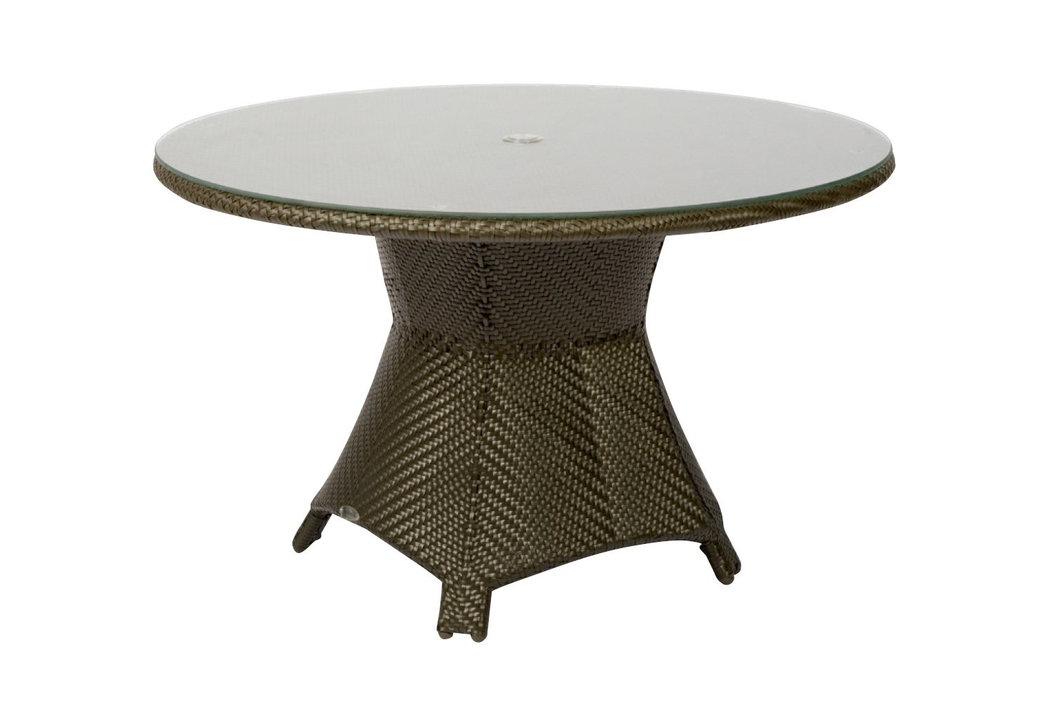 Image of: Wicker Patio Table Umbrella