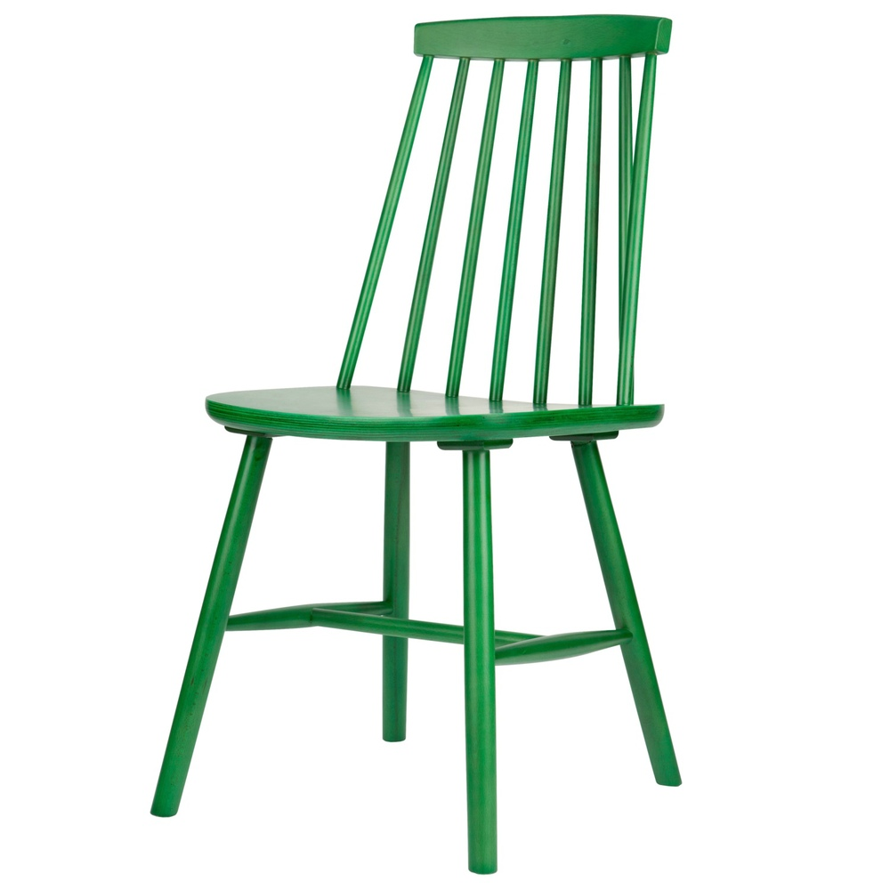 Image of: Windsor Dining Chairs Green