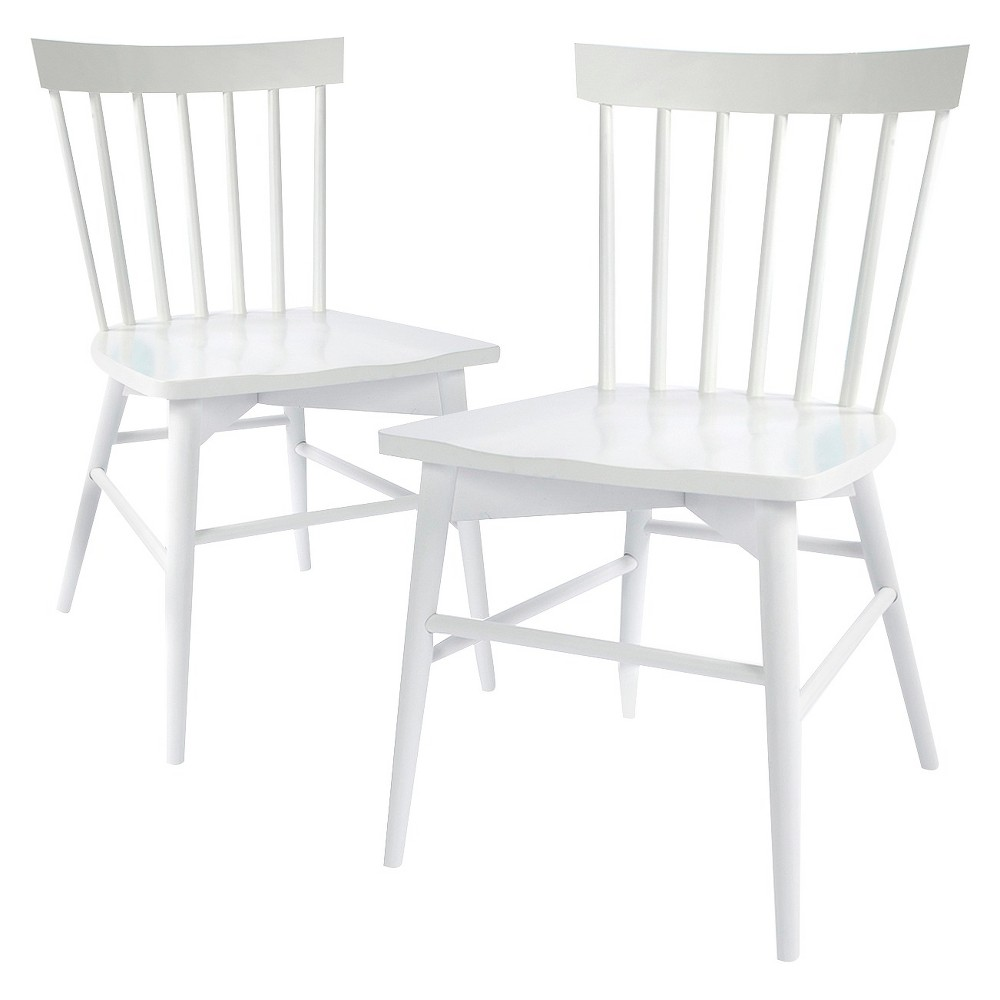 Image of: Windsor Dining Chairs White